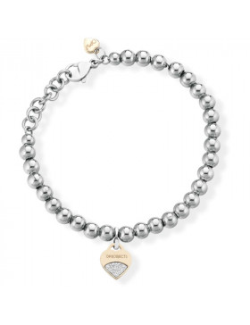 OPS BRACCIALE OPSOBJECTS GLITTER BALL CUORE IPR OPSBR-432