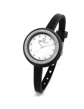 OPS OROLOGIO OPSOBJECTS BON BON CRYSTAL NERO SS DONNA OPSPW-428