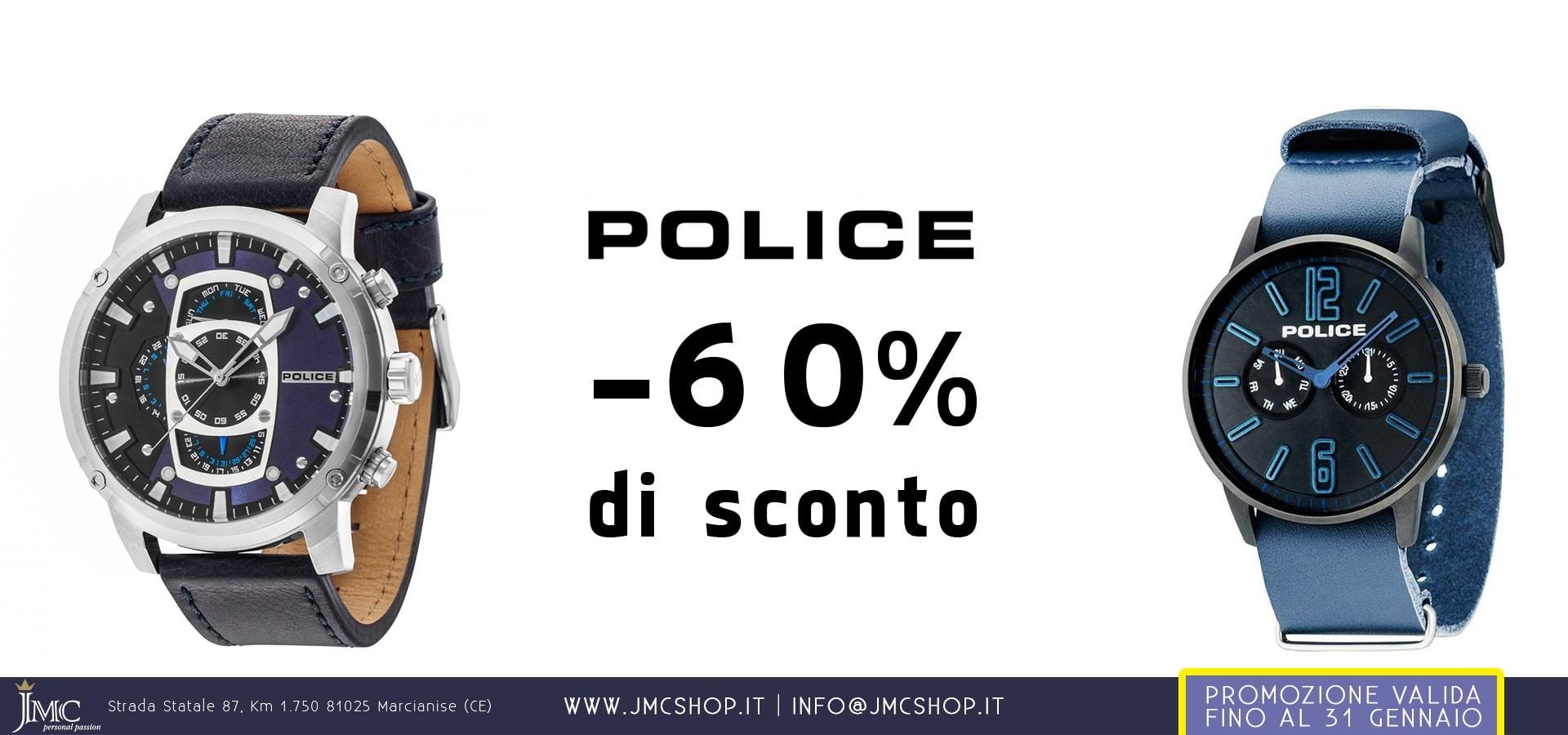Orologi POLICE da uomo e da donna in sconto al 55%