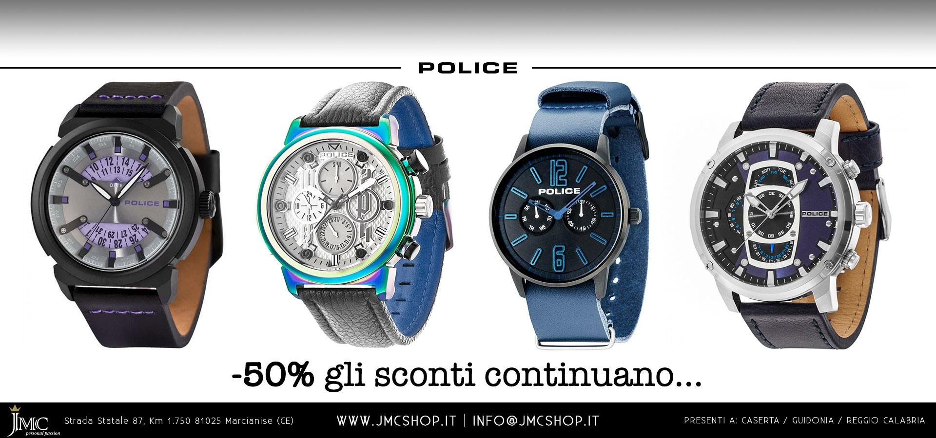 Orologi POLICE da uomo e da donna in sconto al 50%